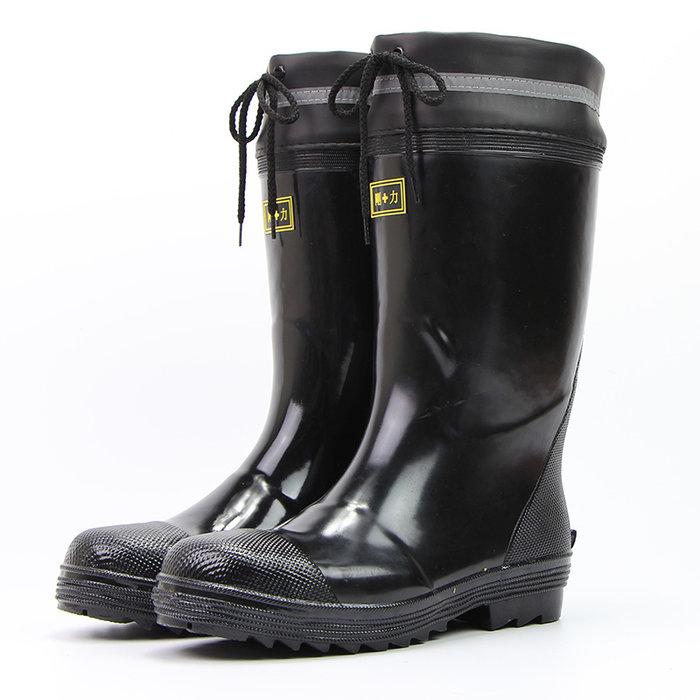 日本代購  品質男式  高筒鋼頭鐵頭  防砸勞保工作鞋  中長筒雨鞋  雨靴水鞋三防雨鞋