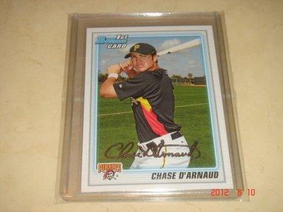 美國職棒 Braves Chase D'Arnaud  2010 Bowman Prospects RC 新人卡 球員卡