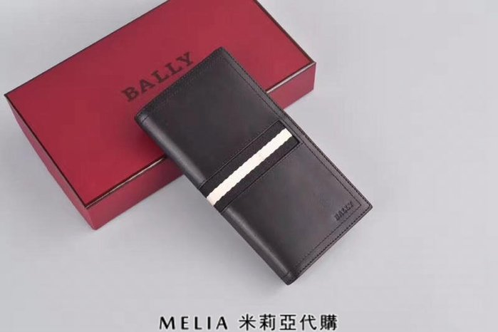 Melia 米莉亞代購 bally 貝利 2108新款 春季新品 真皮 牛皮 長夾 經典款 父親節送禮首選 黑色