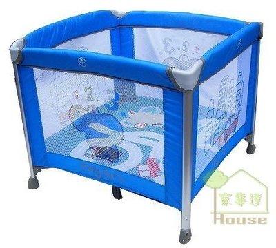 [ 家事達 ]Mother's love- 鋁管單層 嬰兒遊戲床-藍色~ 特價