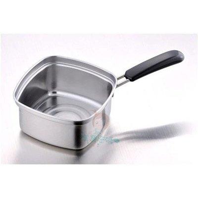 日本 下村企販 不鏽鋼 四角 方型湯鍋/泡麵鍋 15cm 【美麗密碼】自取 面交 超取