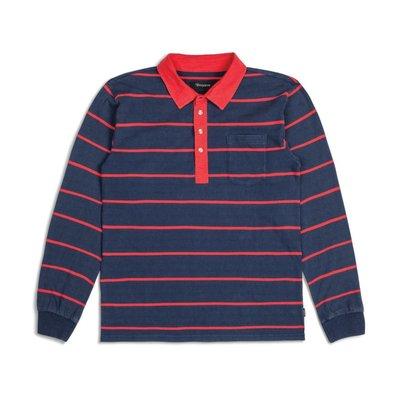 Brixton - BELGRADE POLO 紅藍條紋 POLO長袖 現貨販售
