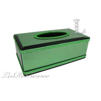 【芮洛蔓 La Romance】 璀璨水晶面紙盒 - 綠色