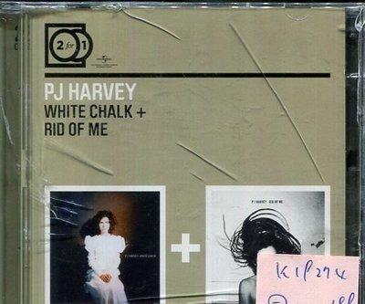 *真音樂* P J HARVEY / WHITE CHALK + RID OF ME 二手 K19274