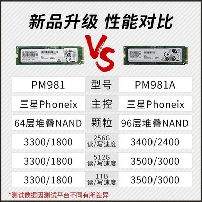 硬盤三星M.2 PM981a NVMe 256G/512G/1T電腦SSD固態硬盤PM9A1 PCIE4.0
