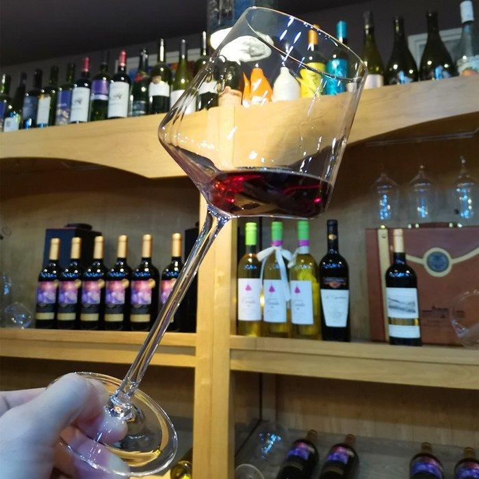 網紅酒杯ins風北歐家用2個套裝情侶勃艮第水晶玻璃杯葡萄酒高腳杯歐式酒杯