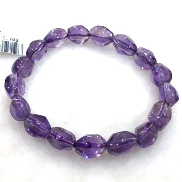 『純天然水晶量販』天然紫水晶手鍊~早期商品亮透度超棒 兩種規格