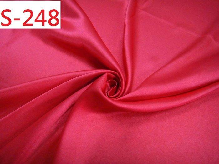 (特價10呎300元) 布料零售 布料批發 【CANDY的家2館】精選布料S-248大紅亮光緞面洋裝裙褲料