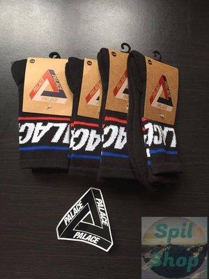 【Spil_shop】現貨  palace 2017 秋季 BASICALLY SOCK  黑 襪子 S / M 男 女