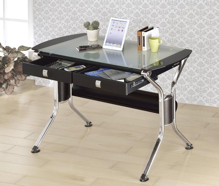 FA-337-1 4尺黑色二抽電腦桌/大台北區/衣櫃/系統家具/沙發/床墊/茶几/高低櫃/1元起/最低價/高品質