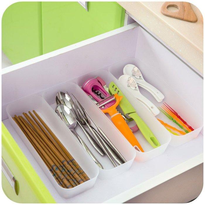 收納盒 整理箱居家家 抽屜分隔收納盒廚房餐具小盒子 長方形塑料桌面化妝品收納