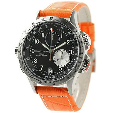HAMILTON H77612933 漢米爾頓 手錶 42mm Khaki ETO 卡其航空系列 皮錶帶 男錶女錶