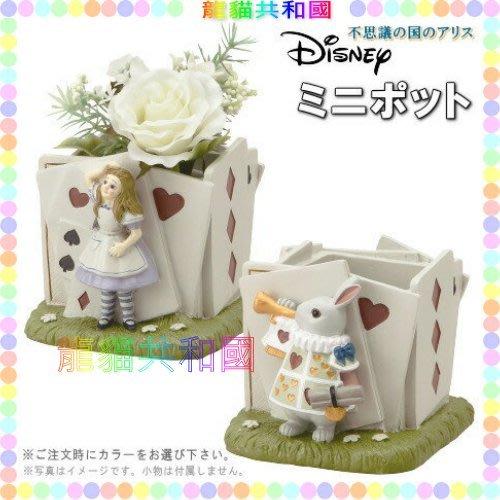 ※龍貓共和國※日本迪士尼DISNEY《Alice愛麗絲夢遊仙境 艾莉絲 時間兔 置物盒 花器 花盆 筆筒 裝飾品 擺飾》