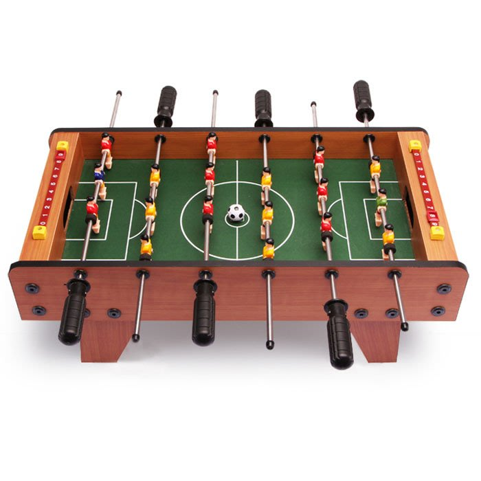 5Cgo【樂趣購】558694573192 新款時尚益智桌上足球機兒童玩具3男孩6周歲7歲男童足球小孩生日禮物成人競技遊