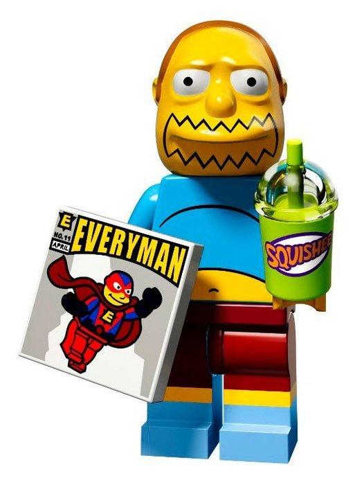 現貨【LEGO 樂高】益智玩具 積木/ Minifigures人偶系列:辛普森2代人偶包 漫畫男孩+思樂冰 71009