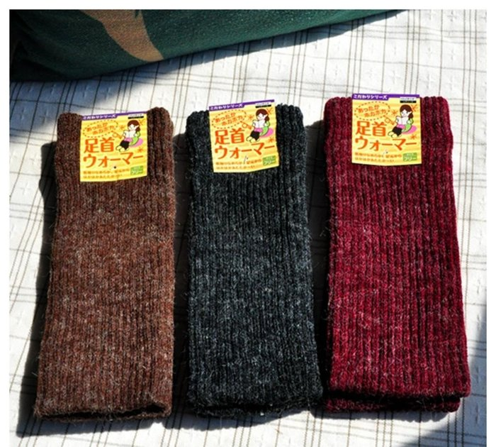 實用款!冬季加厚保暖加毛拉絨護膝手腕腳腕護套 1雙2只 男女通用