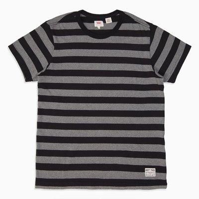 全新 Levis 黑灰條紋短袖T恤