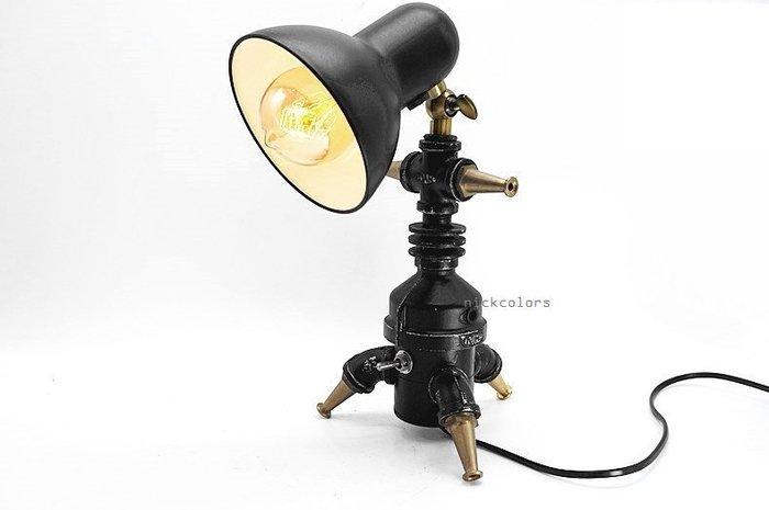 尼克卡樂斯~重工業金屬手工造型檯燈 書桌燈 臥室燈 loft 設計款桌燈 餐廳燈 復古燈 服飾店 咖啡廳 造型燈飾