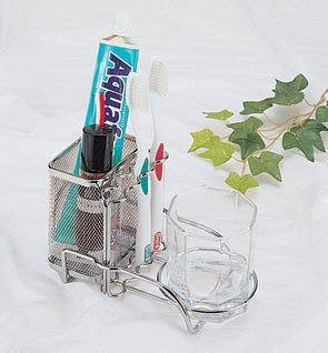 ☆成志金屬☆304不銹鋼 SA-3A 拉網--座式單籃單杯--牙膏牙刷架,精品好買價。