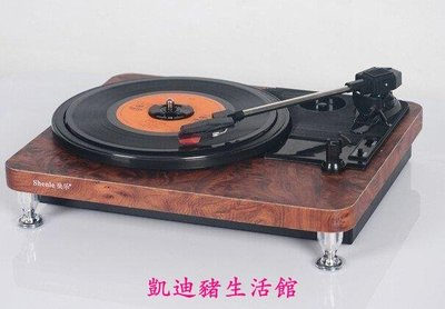 【凱迪豬生活館】全新 電唱機 LP黑膠唱機 留聲機 黑膠播放機 搭配膽機效果更佳USB電唱機復古黑膠唱機木色白可選KTZ-200918
