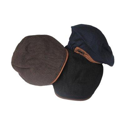 【 PUNX 】PUNX 20SS SPLICE PEAKED CAP  拼接皮革金屬LOGO鴨舌帽