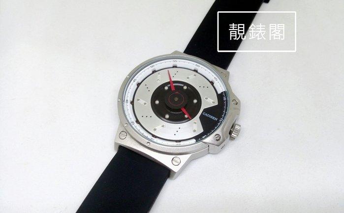 【靚錶閣】通風碟/煞車碟盤造型.新視覺賽車休閒腕錶/橡膠帶