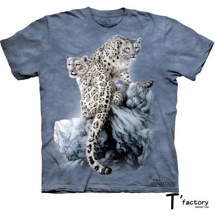 【線上體育】The Mountain 短袖T恤 雪地雙豹 M號