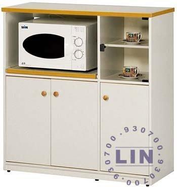 【品特優家具倉儲】045-11餐櫃收納櫃塑鋼微波爐架E-005石花