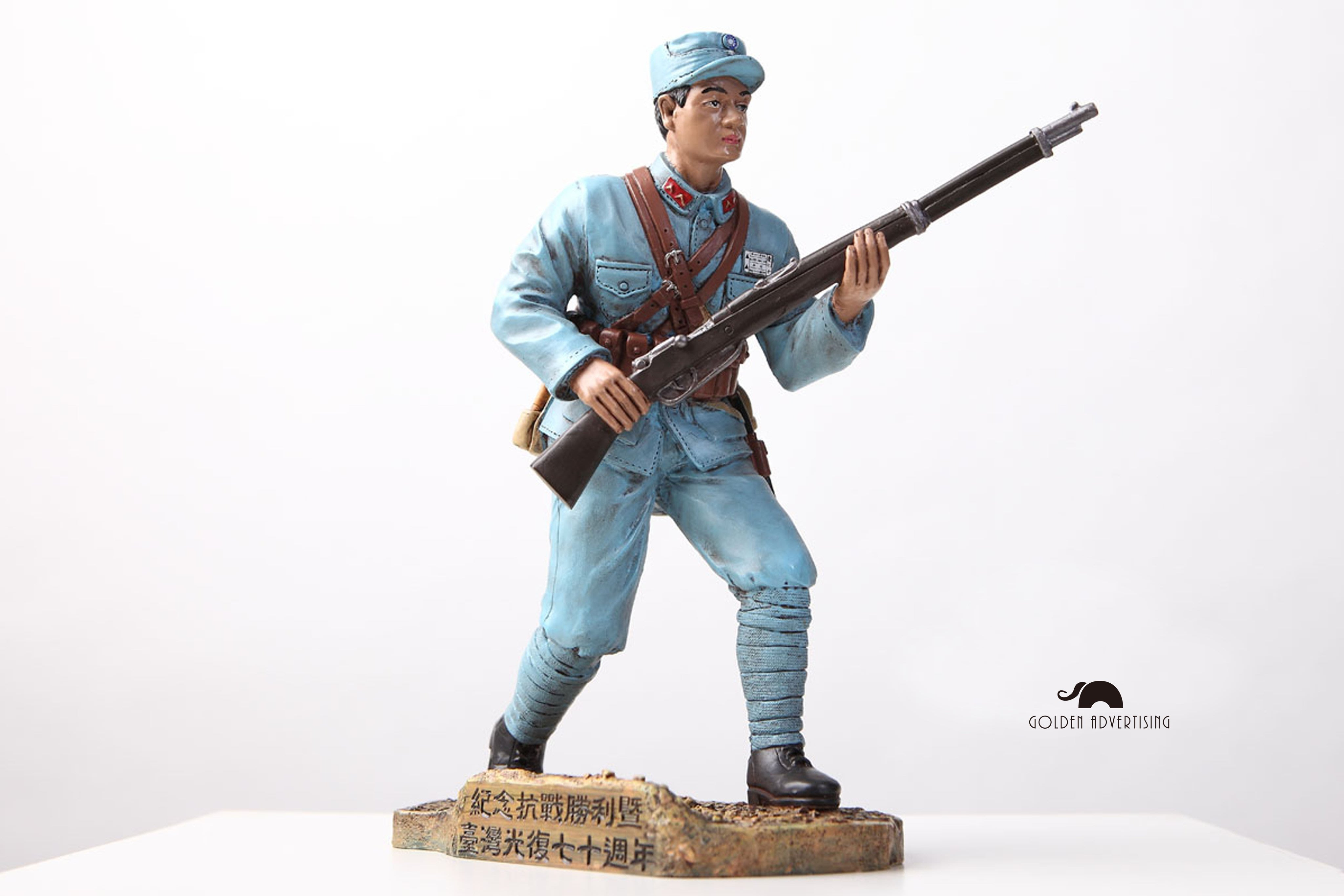 【GEToy】「國軍抗戰部隊」1/9 比例全身雕像公仔