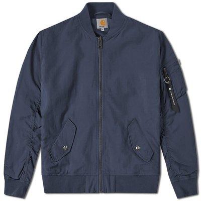 『WORKZOO』Carhartt Wip Adams Jacket MA1 飛行 夾克 外套 藍色 現貨出清