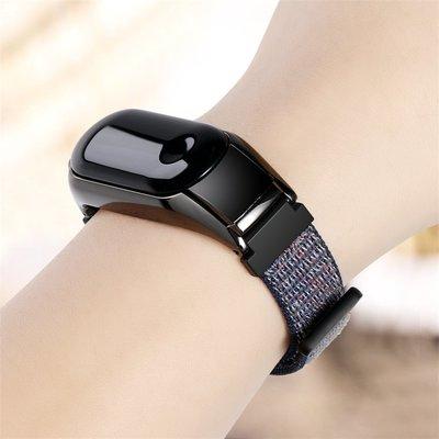 小胖 小米手環 3 NFC 撞色尼龍回環運動防水金屬錶帶 MI 小米手環 2 佩戴舒適 錶盤保護套錶帶 智能手錶替換腕帶