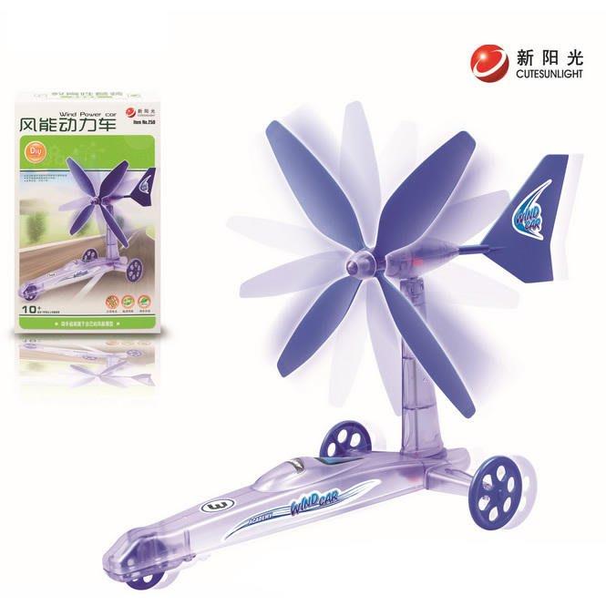 【W先生】新陽光 風能動力車 風力 風車 科學實驗 科學玩具 DIY 拼裝 自行組裝