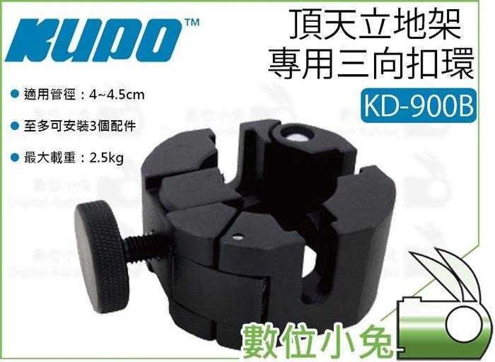 數位小兔【KUPO KD-900B 頂天立地架 專用三向扣環 酷炫黑】手銬 甜甜圈 天地桿 天地架 夾具 夾座 安裝夾