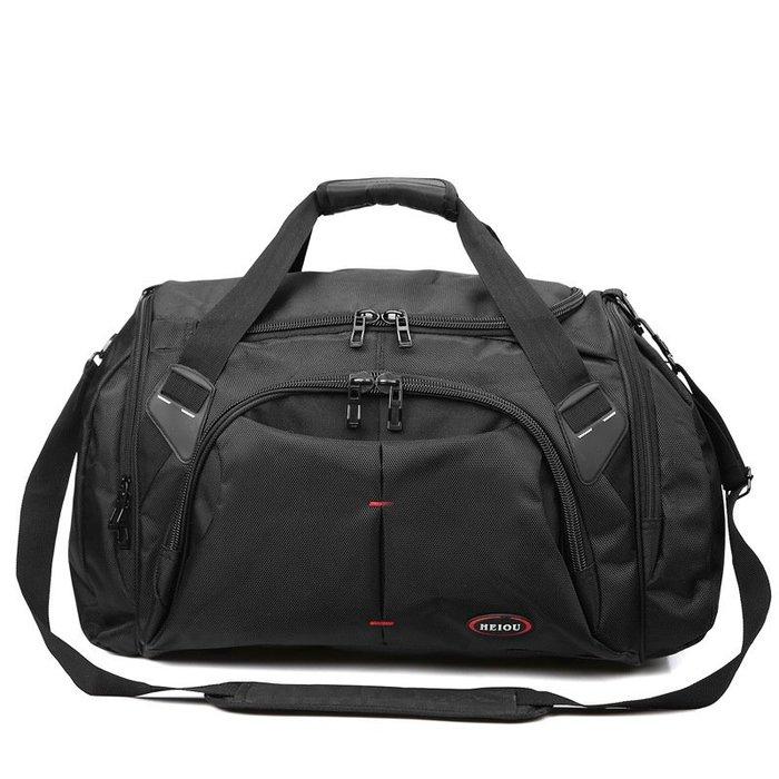 [包妳喜歡]男士手提大容量旅行包行李包帶鞋位旅遊包旅行袋裝衣服包韓版潮流002