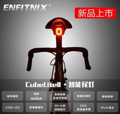 【速度公園】ENFITNIX CubeLite II 自行車智慧尾燈 日行燈 感測光源、煞車 休眠省電 坐管 坐墊 後燈 台中市