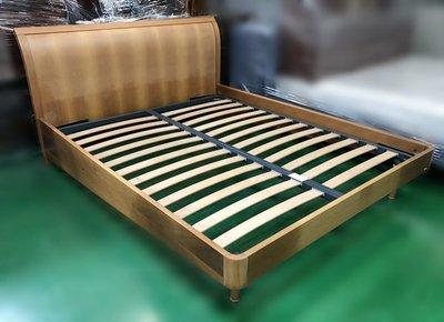 【宏品二手家具館】 台中中古傢俱賣場 *B10602*木色5尺排骨床架* 床板 床底 床箱 中古臥室家具 2手傢俱拍賣