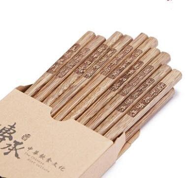 雞翅木筷子家用實木套裝家庭裝10雙
