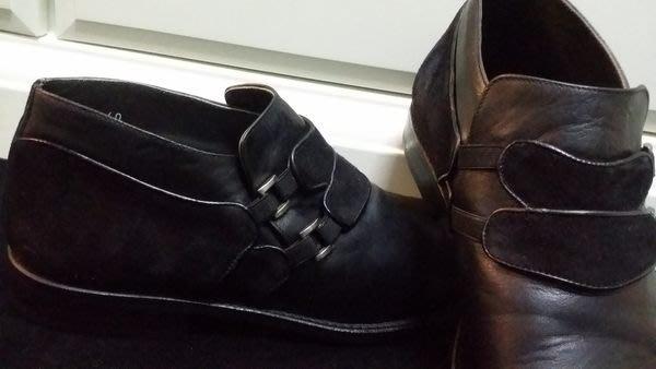 意大利經典木底手工皮鞋品牌 Marco DeLLi HAND MADE IN ITALY 麂皮拼接真皮手工鞋
