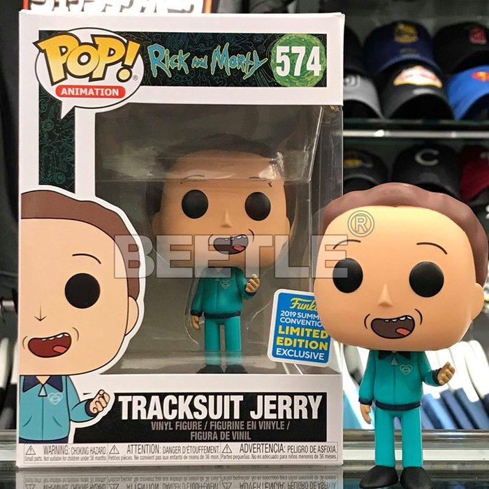 BEETLE FUNKO POP RICK AND MORTY TRACKSUIT JERRY 瑞克與莫蒂 SDCC