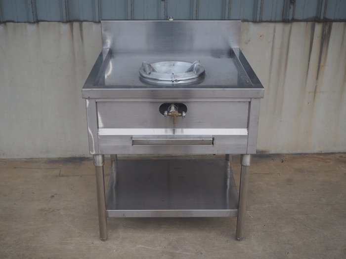 鑫忠廚房設備-餐飲設備:二手手工單口快速炒爐--賣場有工作檯-水槽-烤箱-咖啡機