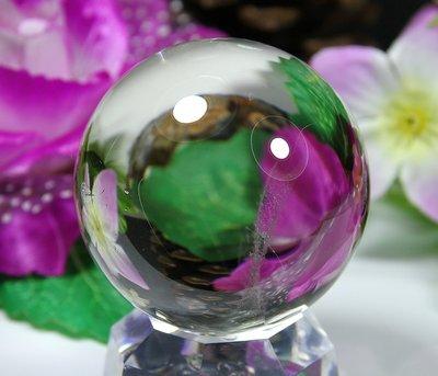 孟宸水晶 = A9043 (100%天然超清透茶黃水晶球226克)