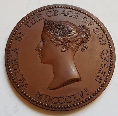 英國銅章1865 UK Department for Success in Art Medal.