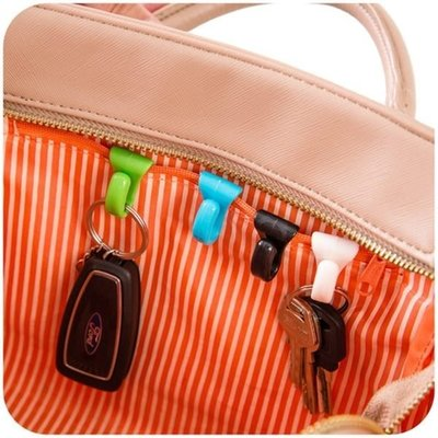 Color_me【F02】創意防丟包包內掛鉤(兩入) 內置鑰匙夾 方便攜帶鑰匙扣 鑰匙掛勾 小物收納 防賊 安全掛鉤