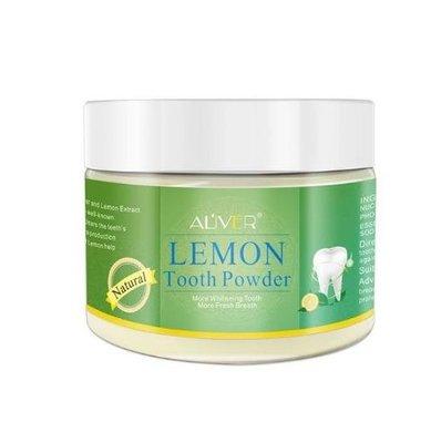 正品熱銷 ALIVER檸檬味牙粉 美白去牙漬煙黃牙垢白牙素粉 70g