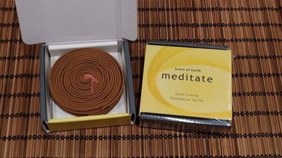 【啟秀齋】日本香堂 Nippon Kodo meditate系列 香草香環(8小時) 環香 盤香 需搭配法式香環台使用