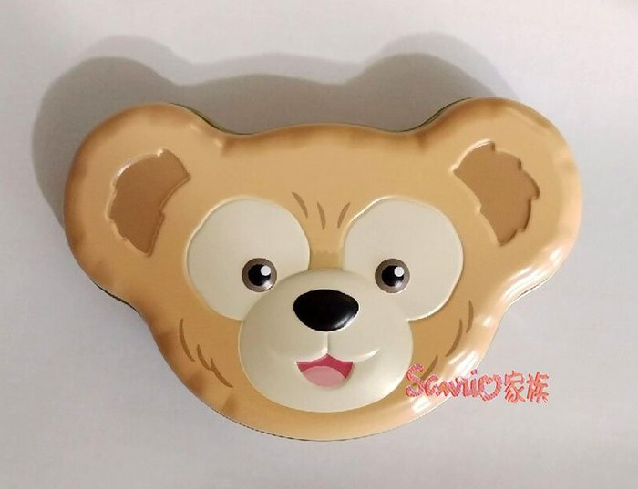 《東京家族》日本東京迪士尼Disney 限定達菲熊 立體大頭造型糖果盒 鐵盒 收納盒 置物盒 附糖果