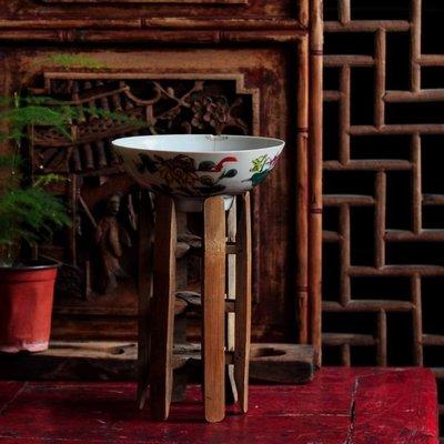 古董清代老竹雕織布機用的繞線月子可作花架和擺件高20厘米