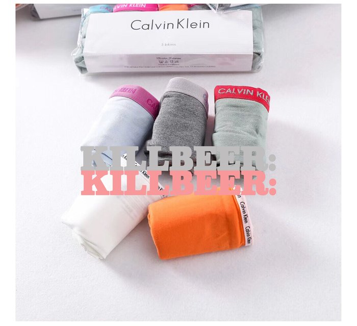 KillBeer:OUTLET代購✈✈Calvin Klein新款CK經典彈力低腰舒適棉質內褲五件組套裝061717