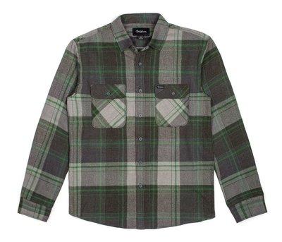 [CABAS滑板店] BRIXTON BOWERY LS FLANNEL 綠   法蘭絨 格紋 襯衫