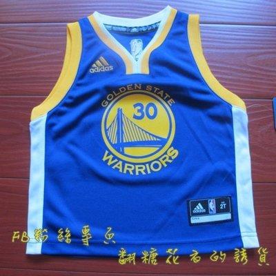 美國正品 NBA adidas 兒童球衣 籃球背心 史蒂芬·柯瑞 Stephen Curry 勇士隊